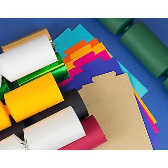 100 Assorted Make & Fill Your Own DIY Recyclable Christmas Cracker Boards - Bulk