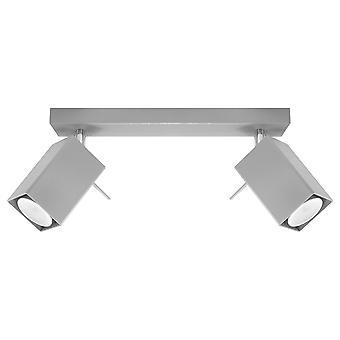 2 Light Spotlight Bar Grey, GU10