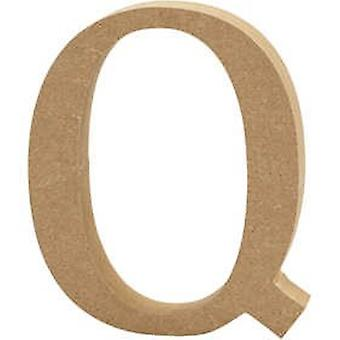 13cm Large Wooden MDF Letter Shape to Decorate - Q | Wood Shapes for Crafts