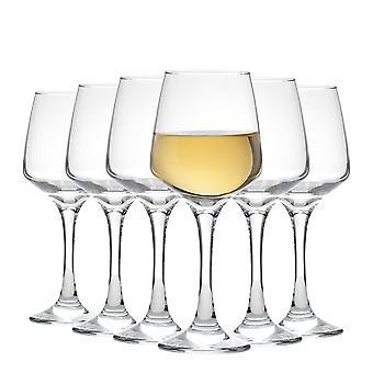 Vajilla de argón 'Tallo' Gafas de Vino Blanco Contemporáneo - Caja de Regalo de 6 Gafas 295ml (10oz)