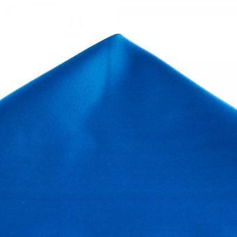 Ties Planet Plain Elettrico Blu Satin Fazzoletto