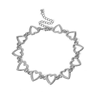 Heart Shape Hollow Chain Necklace