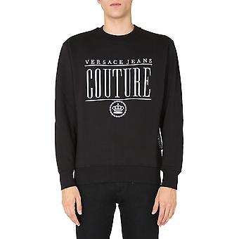 Versace Jeans Couture B7gzb7tr30216899 Uomo's Felpa in cotone nero
