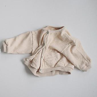 Nyfödda Baby Cardigans Coats- Bomull Baby Girl Ytterkläder Jackor
