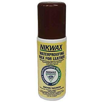 Nikwax Impermeabilizzazione Cera per Pelle Liquido Aqueous Wax Brown (125ml) - 125ml