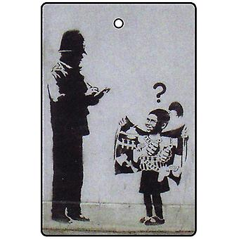 Banksy Flashing Bomb Girl Car Air Freshener