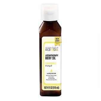 Aura Cacia Aromaterapia telo olej, pokojný harmanček,4 Fl Oz