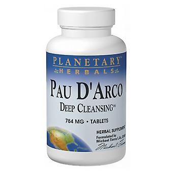 Planetary Herbals Pau D'arco, 800 MG, Deep Cleansing 72 Tabs