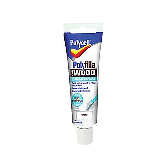 Polycell Polyfilla For Wood General Repairs Tube White 75g PLCWGRW75