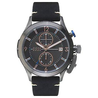Shchuka s cp-7033-06 Watch for Analog Quartz Men with Cowhide Bracelet CP-7033-06