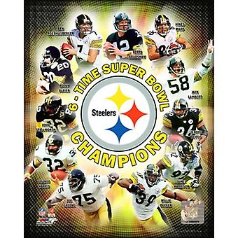 Pittsburgh Steelers Superbowl 6 fois Champions sportifs Composite Photo