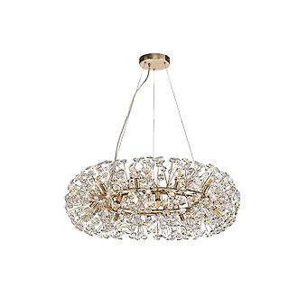 Eleanor Pendant 20 Light G9  French Gold/crystal