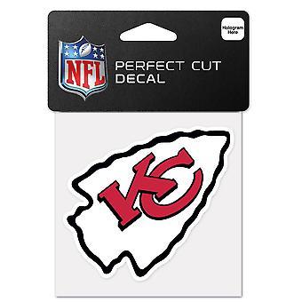 Wincraft ملصقا 10x10cm-NFL رؤساء مدينه كانساس