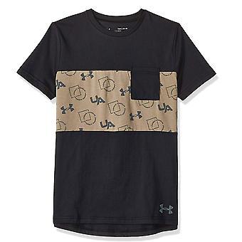 Under Armour Sportstyle Pocket Kinder Lässige Kurzarm T-Shirt T-Shirt schwarz/Khaki