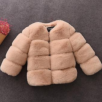 Baby Faux Fur Coat - Talvi Pitkähihainen Joulutakki Päällysvaatteet Vaatteet