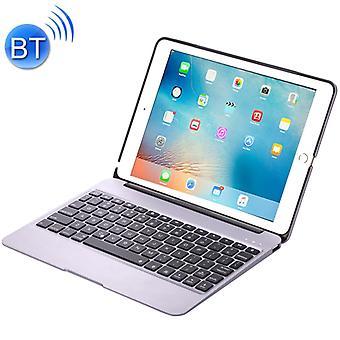 F07 for iPad Pro 12.9 inch Portable Foldable Aluminium Alloy Wireless Bluetooth Backlight Keyboard(Silver)