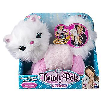 Twisty petz 6054693 cuddlez, purrella kitty transforming collectible plush for kids aged 4 and up, m
