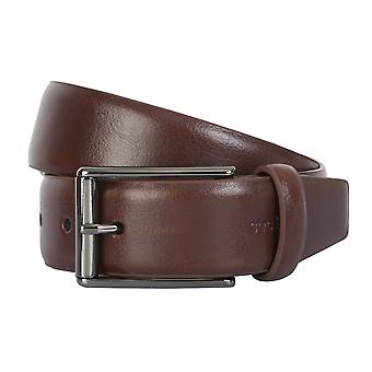 Strellson belts men's belts leather leather belt Cognac 2305