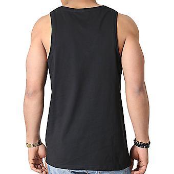 New Era Mens Essential Classic Summer Round Neck Vest Tank Top - Black
