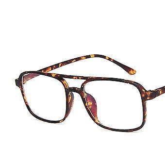 Square Glasses Frame Men, Eyeglasses Anti Blue Light Transparent