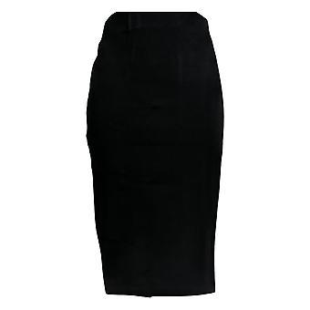 BROOKE SHIELDS Skirt Ponte Knit Pull-On Pencil Black A306637