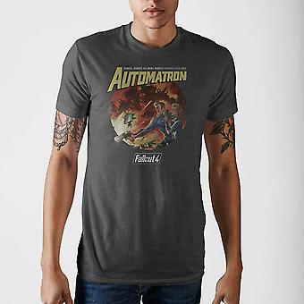 Fallout automatron camiseta cinza