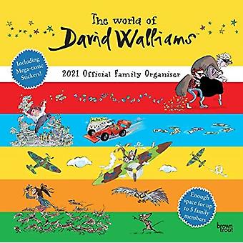 The World Of David Walliams 2021 Square Family Organiser Calendar by Browntrout