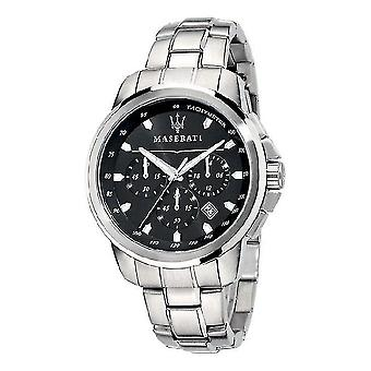 Maserati R8873621001 Successo Chronograph Black Dial Men's Watch