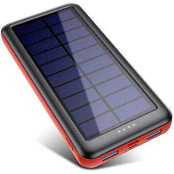 iPosible Solar Power Bank 26800mAh Solar Charger [Type-C Input] Fast Charging Portable Phone Charger