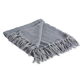 Dii Cool grau solide strukturierte Werfen Decke