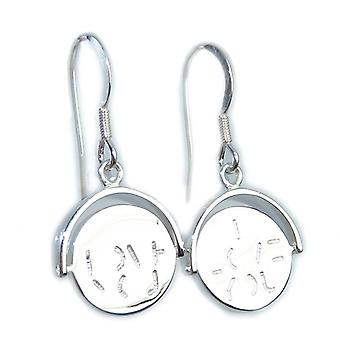 I Love You Spinner Sterling Silver Brincos .925 X 1 Par Drops