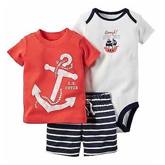 Summer Baby Camiseta, Short y Romper Set, Diseño 13
