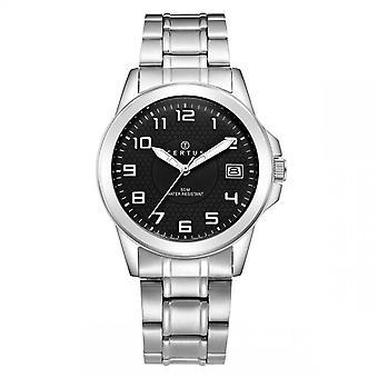Certus 616223 watch - musta teräs mies