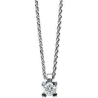 الماس كولير كولير - 14K 585 الذهب الأبيض - 0.15 قيراط.