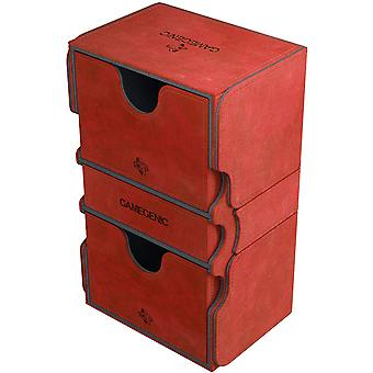 Gamegenic Stronghold 200-Card Convertible Deck Box Rojo