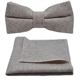 Kivipesty kaurapuuro rusetti &; Pocket Square -setti