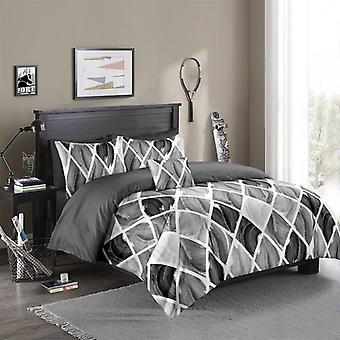 Luxury Duvet Cover Set, Fashion Geometry Series Bedding Sets - B