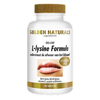Oro Naturals L-lisina fórmula (180 tabletas vegetarianas)