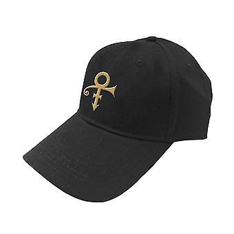 Prince Baseball Cap Gold Symbol new Official Black Unisex