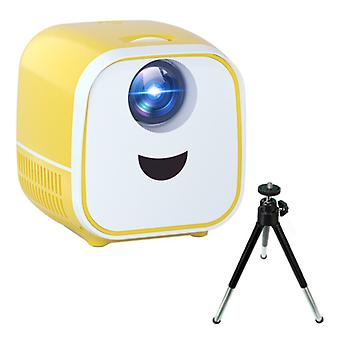 Thundeal PK YG300 Mini LED -projektori jalustalla - Beamer Home Media Player Theater Cinema White