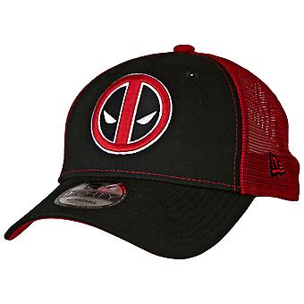 Deadpool Symbol Trucker New Era 9Forty Chapeau réglable