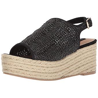 Steven by Steve Madden Womens courage Fabric Open Toe Casual Platform Sandals