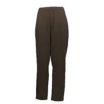 Kvinder med kontrol Plus Leggings Fit Træk på Strik Linning Brown A235949