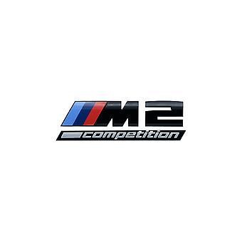 BMW M2 F87 Competition Rear Trunk Badge Sticker Emblem Gloss Black 51148079564
