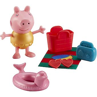 Peppa Pig Figure & Accessory Pack - Beach Theme (One Supplied)