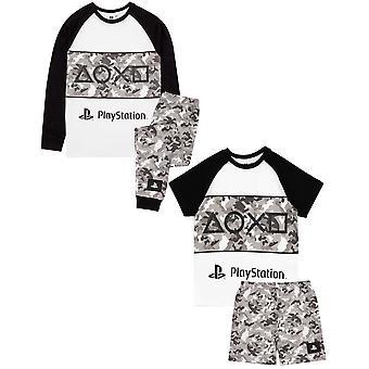 Playstation Pyjamas Pojille | Lasten Camo T-paita Shortsit TAI Housut Pelaaja PJs | Konsoliohjaimen peliohjaimen kauppatavara