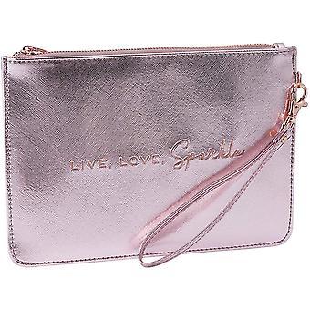 CGB Giftware vaaleanpunainen metallinen kauneuspussi