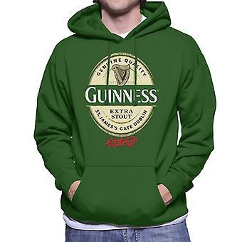 Guinness Extra Stout Label Logo Men's Hooded Sweatshirt