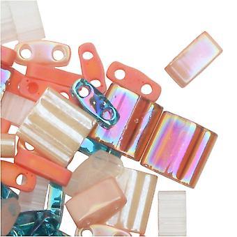 Miyuki Tila Beads, 2-reikäiset muotosekoituksessa, Island Hopper, 7,2 gramman putki