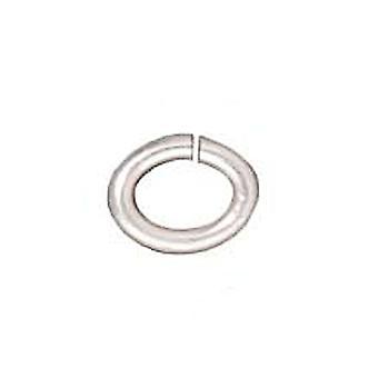 Final Sale - TierraCast Silver Plated Brass Oval Jump Rings 4mm 20 Gauge (50)
